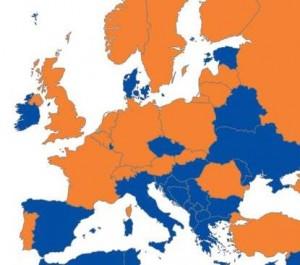 EU kaart 18 landen kleiner