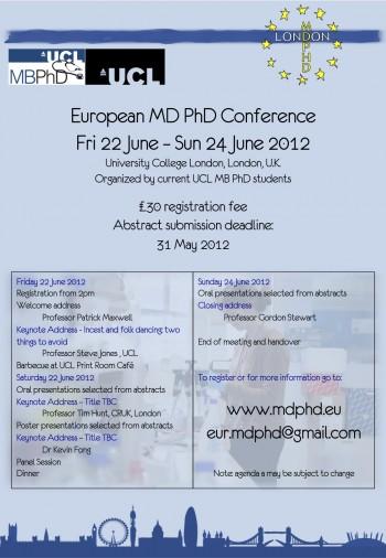 EU MDPHD conference UK